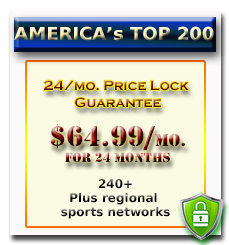Dish America's Top 200 tv Programming Package